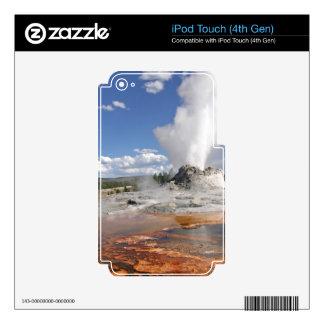 GÉISER DEL CASTILLO DE YELLOWSTONE SKINS PARA iPod TOUCH 4G