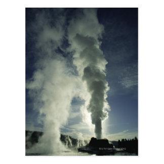 Géiser del castillo, parque nacional de Yellowston Tarjetas Postales