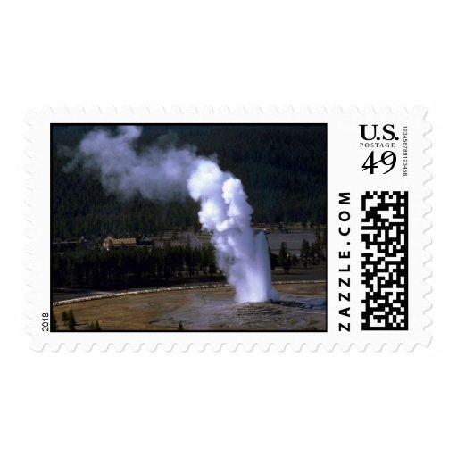Géiser fiel viejo, parque nacional de Yellowstone Sellos