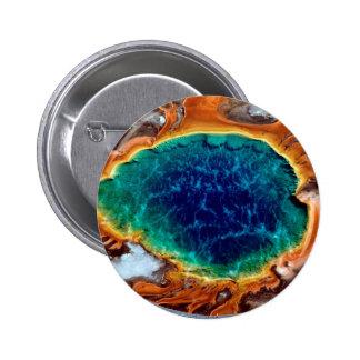 Géiser intermediario Yellowstone magnífico Wyoming Pin
