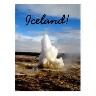 Géiser islandés tarjeta postal