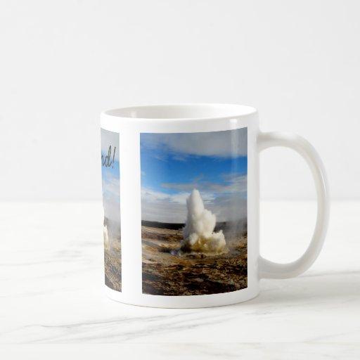 Géiser islandés taza de café
