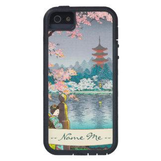 Geisha and Cherry Tree, Ueno Park japanese scenery iPhone SE/5/5s Case