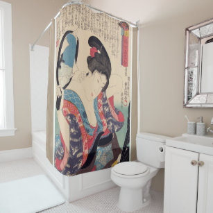Charmant Geisha And Mirror Shower Curtain