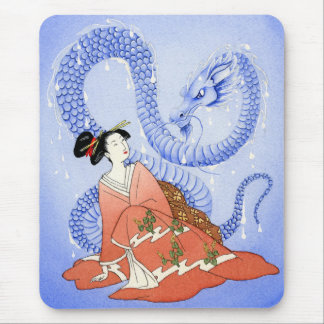 Geisha and the Water Spirit Mouse Pad