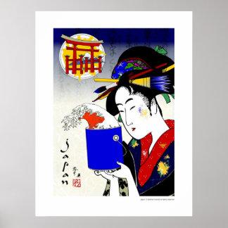 geisha as painter poster