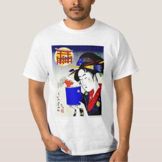 geisha as painter tshirt