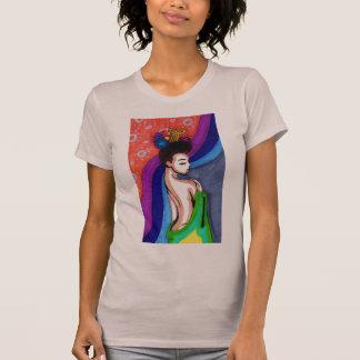 Geisha Behind Curtain Strappy T-Shirt