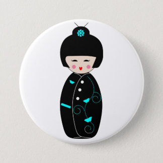 Geisha Cartoon Button