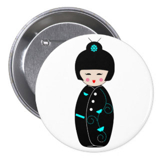 Geisha Cartoon Button