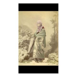Geisha circa Winter 1885 Business Cards