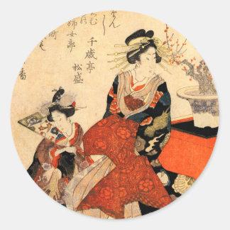 Geisha Classic Round Sticker