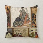 Geisha Collage Throw Pillows