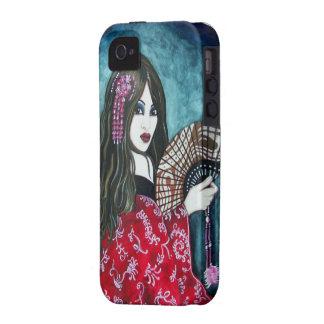 Geisha con la fan Case-Mate iPhone 4 carcasas