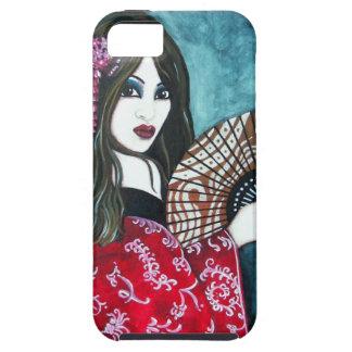 Geisha con la fan iPhone 5 carcasas