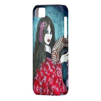 Geisha con la fan iPhone 5 cárcasas