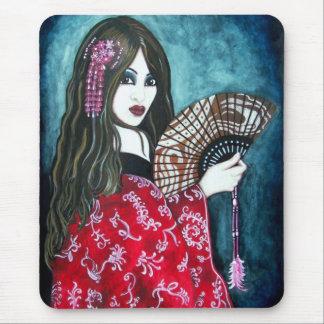Geisha con la fan alfombrilla de raton