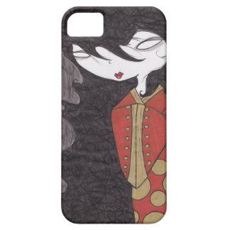 Geisha con su del pelo caso del iPhone abajo Funda Para iPhone 5 Barely There