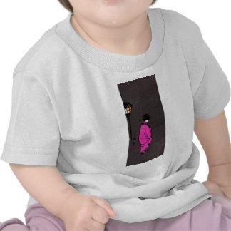 Geisha con túnica púrpura camiseta