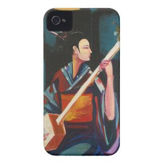 Geisha congregando a Hendrix iPhone 4 Cárcasas