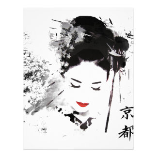 Geisha de Kyoto Membrete Personalizado