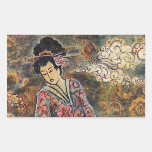 Geisha de la flor de cerezo, productos de la bella pegatina
