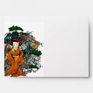 geisha de la opción 4 del sobre 5x7