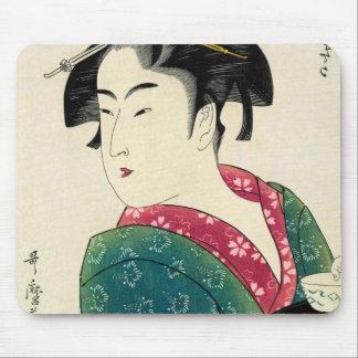 Geisha de Naniwaya Okita Tapetes De Raton