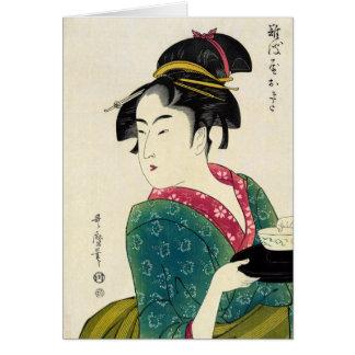 Geisha de Naniwaya Okita Tarjetón