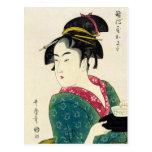 Geisha de Naniwaya Okita Tarjeta Postal