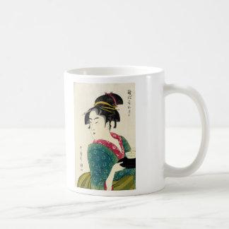 Geisha de Naniwaya Okita Tazas