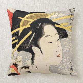 Geisha de Ukiyo-e Cojín