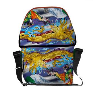 Geisha del bolso del carrito de los dragones bolsa de mensajería