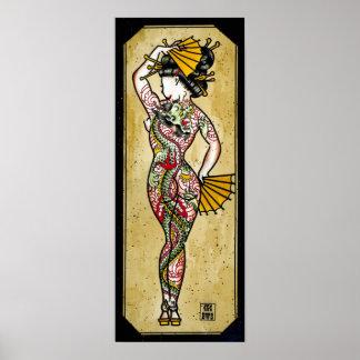 Geisha del dragón póster