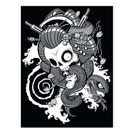 Geisha del fantasma - postal