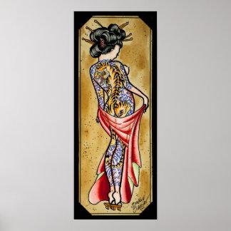 Geisha del tigre póster