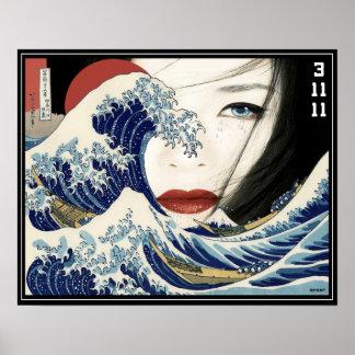 Geisha del tsunami impresiones