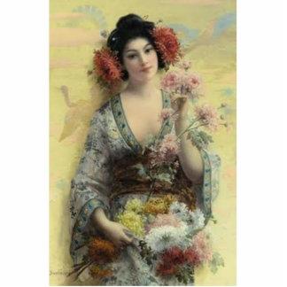 Geisha del vintage escultura fotografica