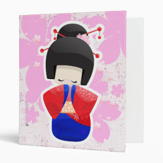 Geisha Doll 3 Ring Binder