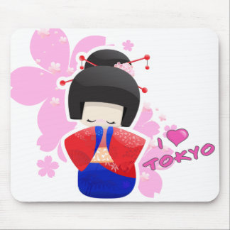 Geisha Doll / I love Tokyo Mousepad