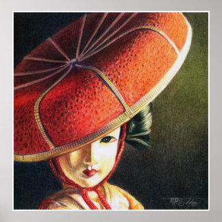 Geisha Doll Still Life Print