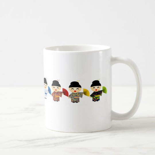 Geisha Dolls Coffee Mug