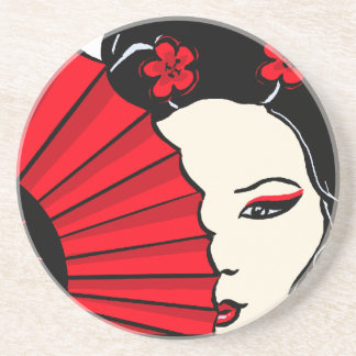 Geisha Drink Coaster