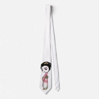 Geisha elegante de Sakura Corbata