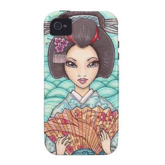 Geisha en caja azul del iPhone 4 del arte de