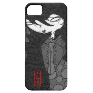 Geisha en caja gris del iPhone Funda Para iPhone 5 Barely There