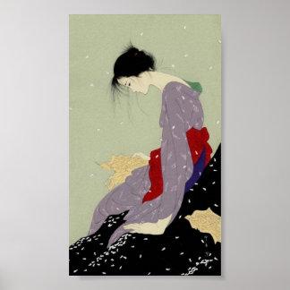 Geisha en invierno posters