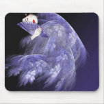 Geisha en Mousepad azul marino Tapetes De Raton