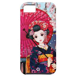 Geisha en tiempo de primavera funda para iPhone SE/5/5s