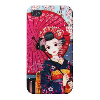 Geisha en tiempo de primavera iPhone 4/4S fundas